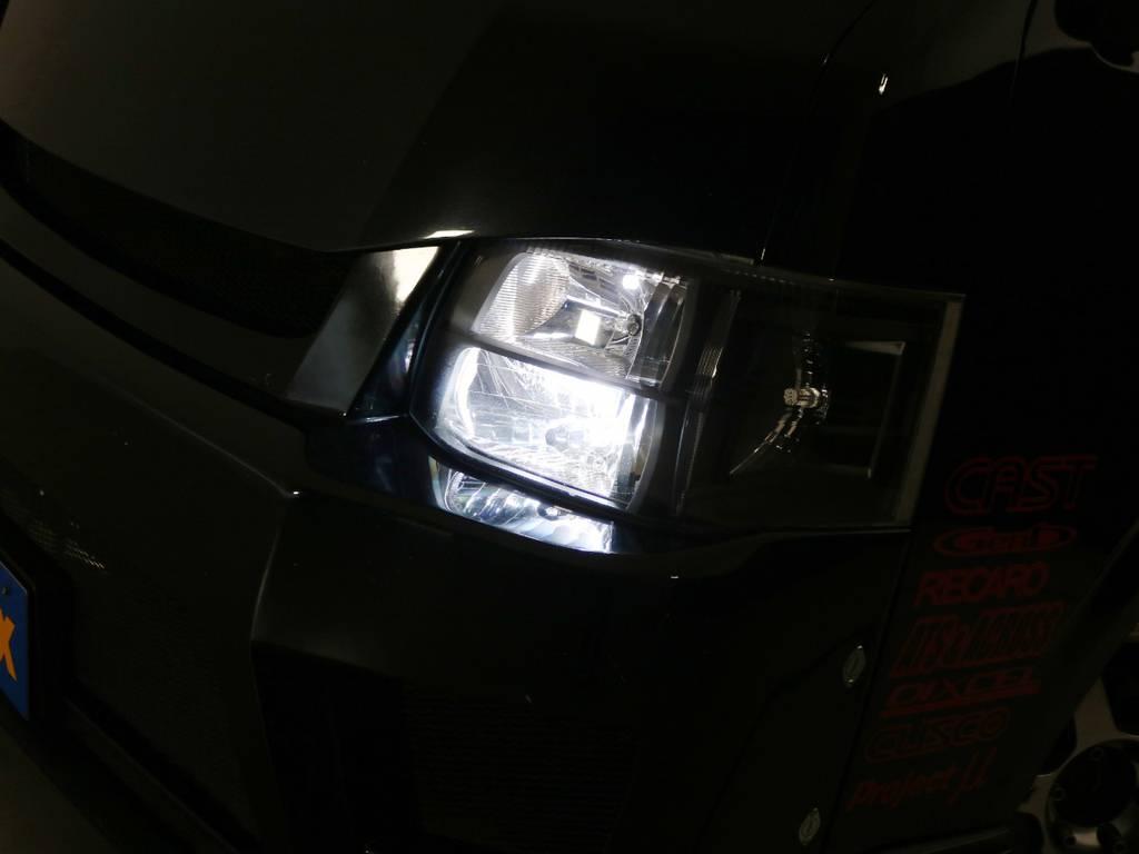 インナーブラック HIDヘッドライト♪ | トヨタ ハイエースバン 2.7 スーパーGL ワイド ロング ミドルルーフ 3型フェイスチェンジ ワイドバン