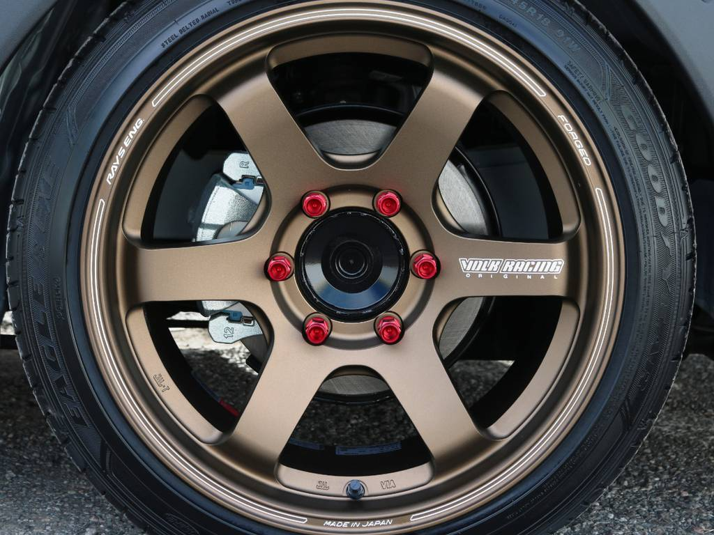 RAYS VOLKRACING TE37SB 18インチアルミホイール! | トヨタ ハイエースバン 2.0 DX ロング 5MT スポーツカスタムパッケージ