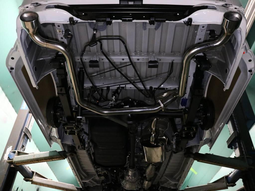 エセックス バルブトロニックマフラー!2段階音量調整が可能なバルブ付き可変マフラー♪ | トヨタ ハイエースバン 2.0 DX ロング 5MT スポーツカスタムパッケージ