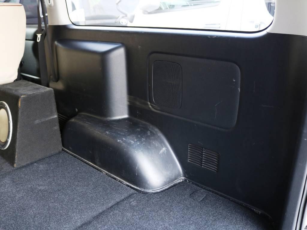 運転席側トリムの状態!荷室には使用感が御座います。