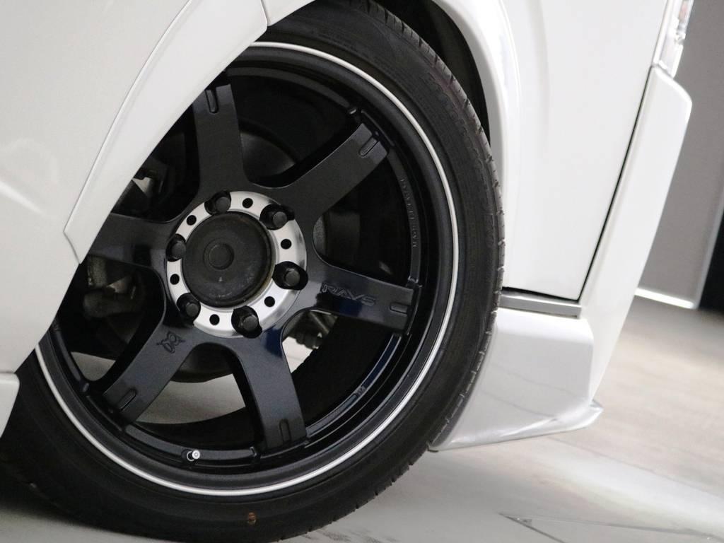 Back9 GL改 18インチアルミホイール!非常に綺麗な状態です! | トヨタ ハイエースバン 2.0 スーパーGL ロング 3型 フルエアロ