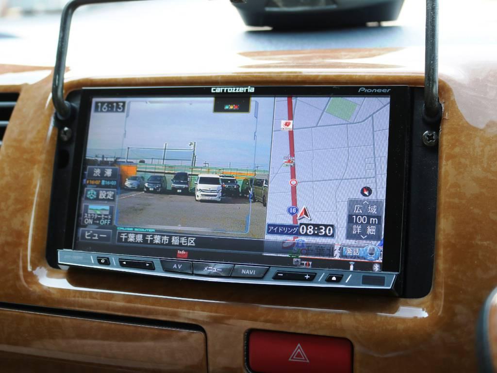 カロッツェリア HDD サイバーナビ!DVD再生可能・フルセグTV対応・ドラレコ機能付き♪ | トヨタ ハイエースバン 2.0 スーパーGL ロング 3型 フルエアロ