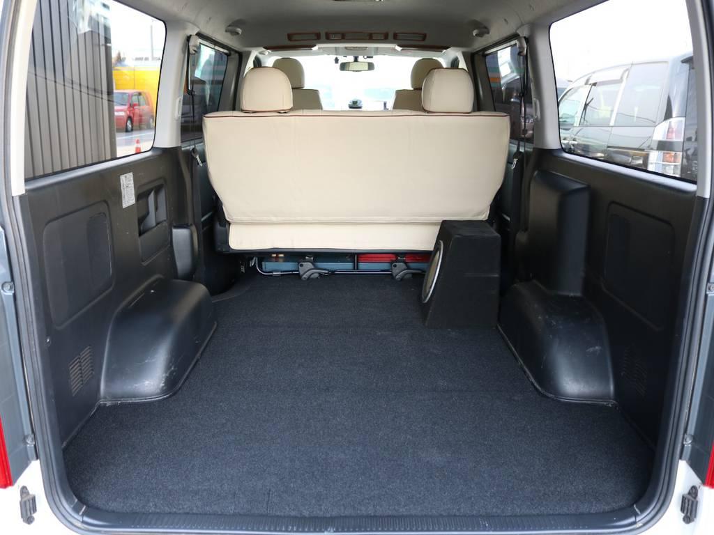 荷室の状態です! | トヨタ ハイエースバン 2.0 スーパーGL ロング 3型 フルエアロ