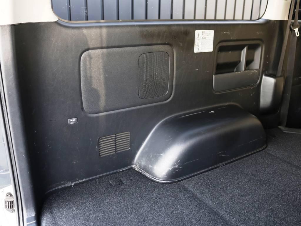 助手席側トリムの状態!荷室には使用感が御座います。 | トヨタ ハイエースバン 2.0 スーパーGL ロング 3型 フルエアロ