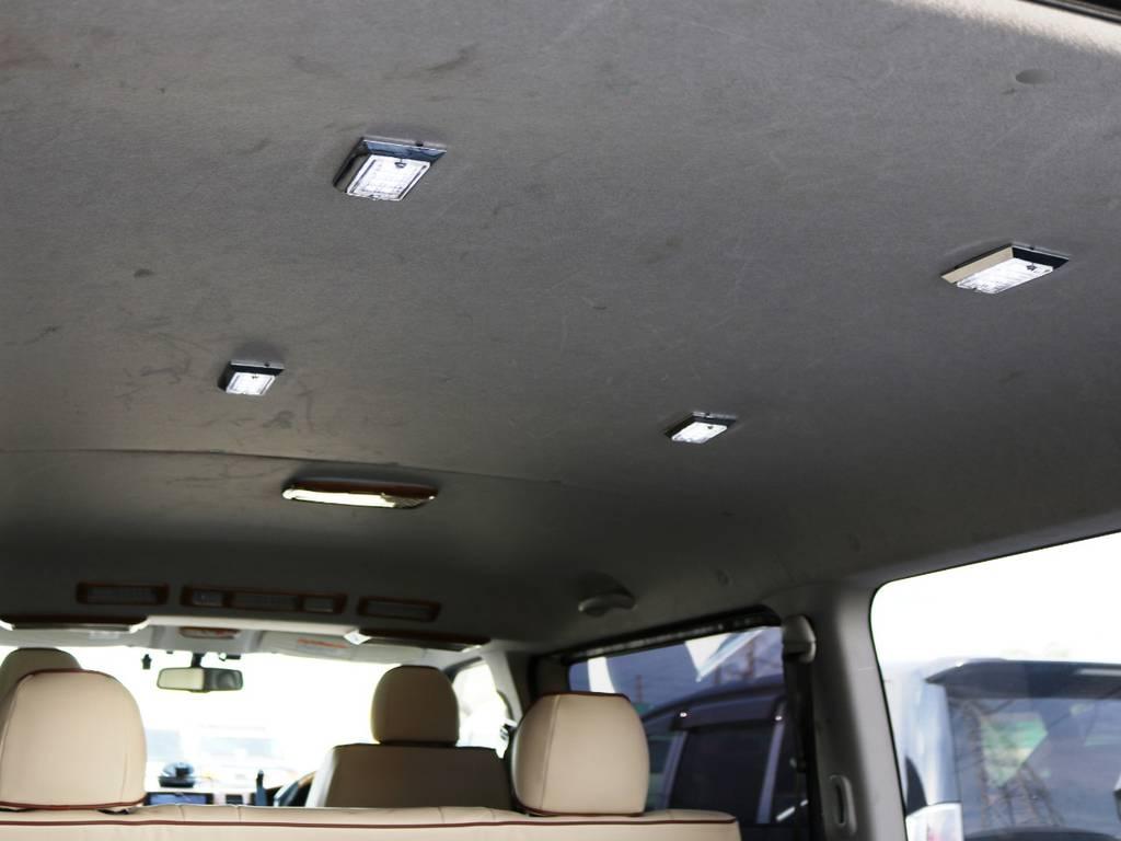 天井の状態!荷室用ライトが増設されております! | トヨタ ハイエースバン 2.0 スーパーGL ロング 3型 フルエアロ