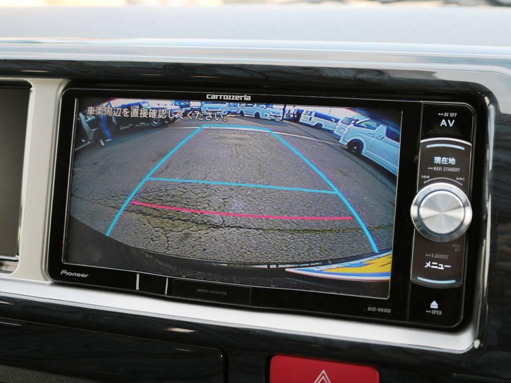 純正バックカメラ連動施工済みです! | トヨタ ハイエース 2.7 GL ロング ミドルルーフ 4WD TSSP付 スタンダードパッケージ