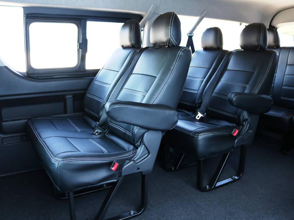 2列目・3列目の状態! | トヨタ ハイエース 2.7 GL ロング ミドルルーフ 4WD TSSP付 スタンダードパッケージ