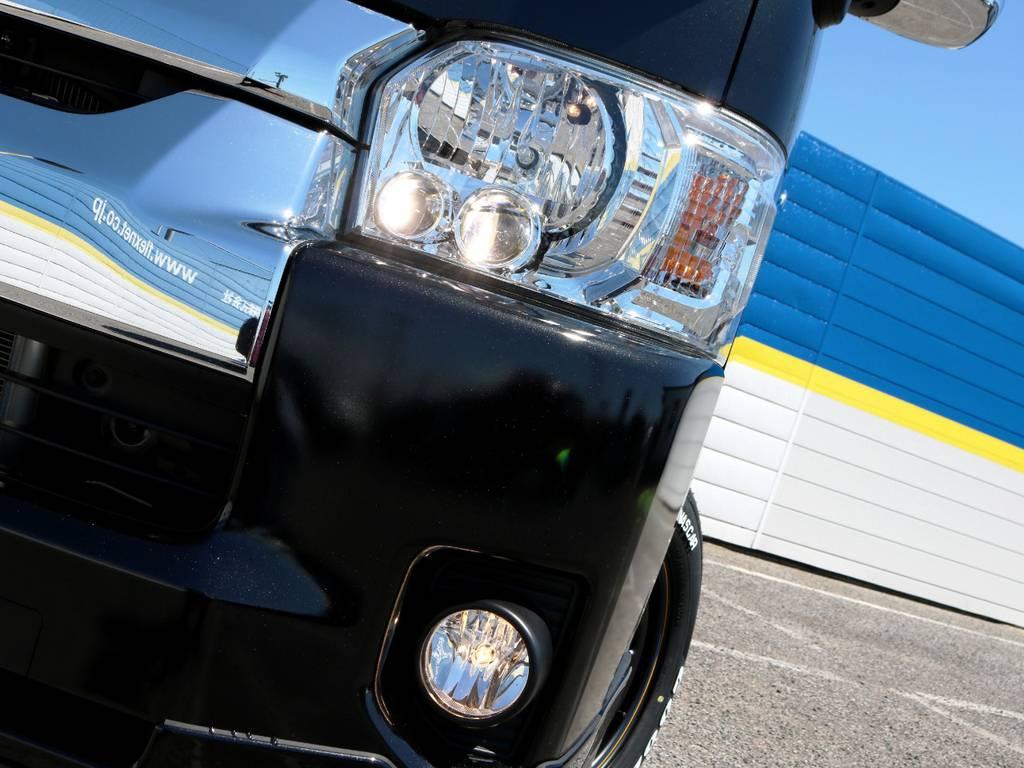 メーカーオプション LEDヘッドライト! | トヨタ ハイエース 2.7 GL ロング ミドルルーフ 4WD TSSP付 スタンダードパッケージ