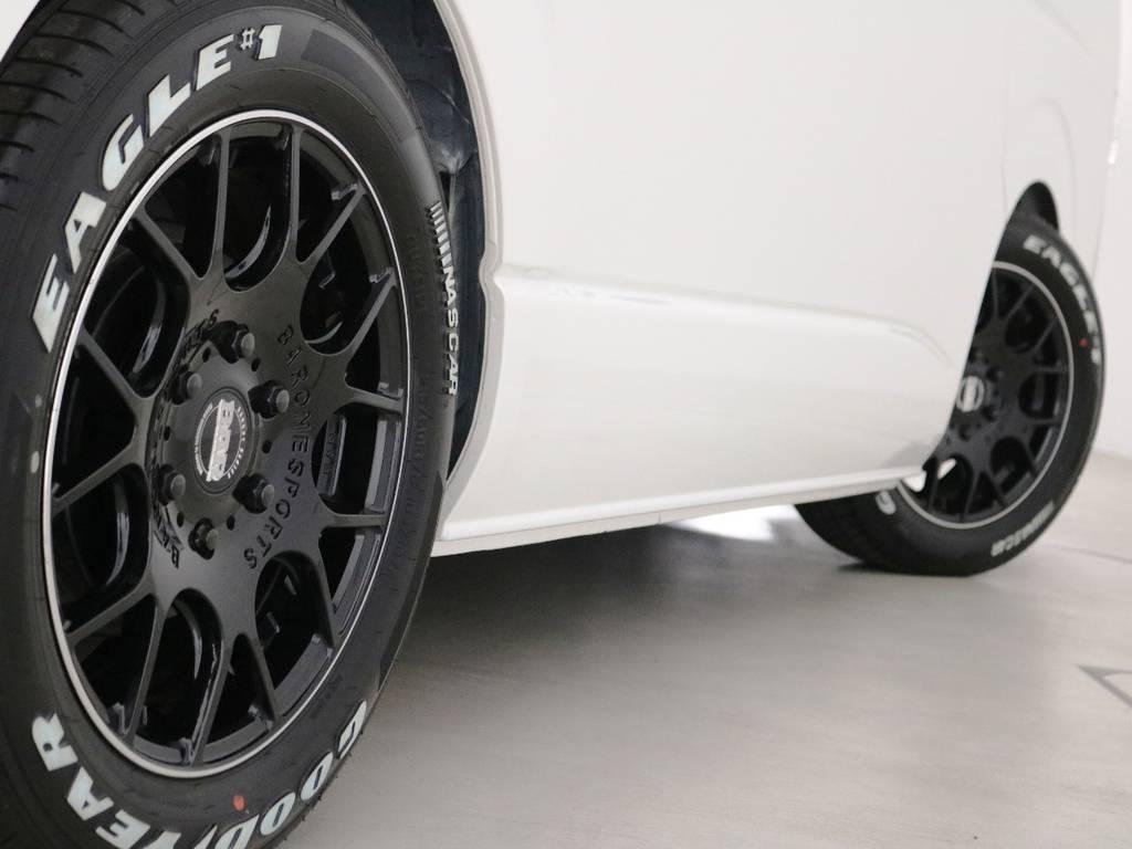 ファブレス MC-7 17インチアルミホイール! | トヨタ ハイエース 2.7 GL ロング ミドルルーフ TSS付 内装ラウンジ5α