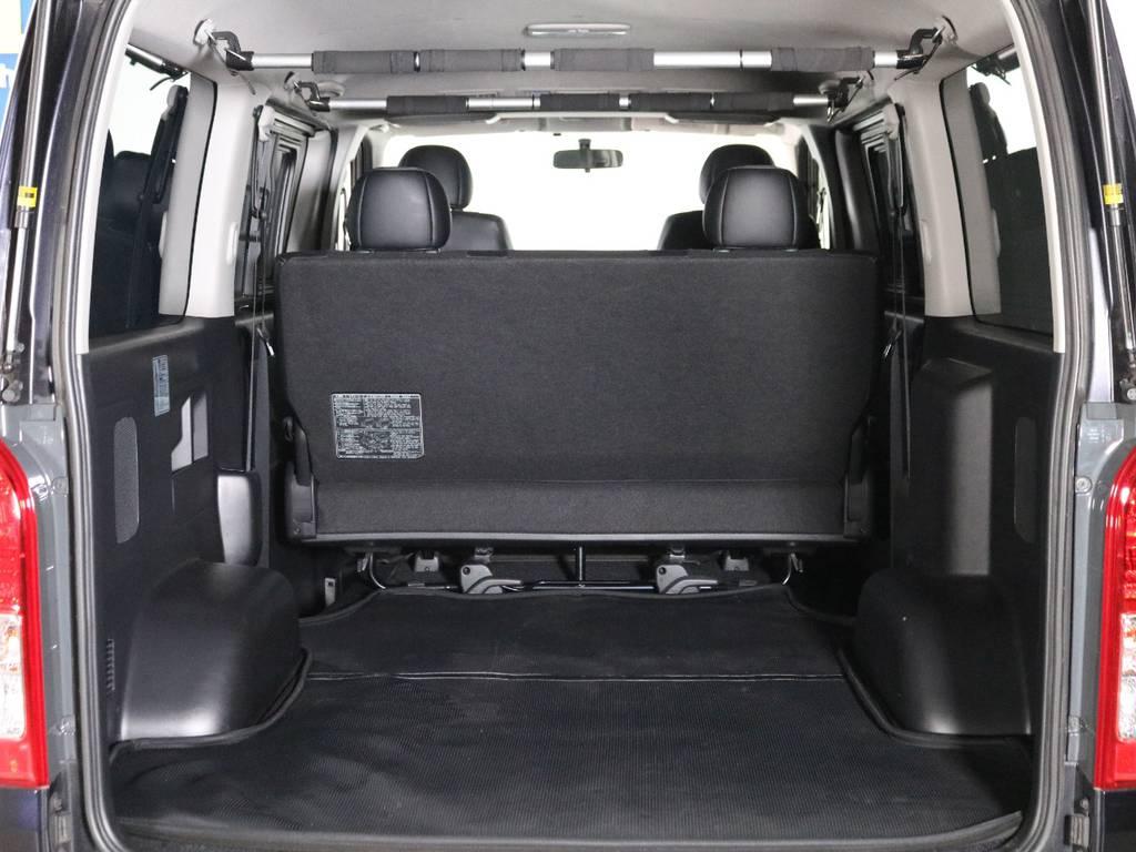 広々荷室のハイエースバン5人乗り! | トヨタ ハイエースバン 2.0 スーパーGL ダークプライム ロングボディ 内外装ライトカスタム