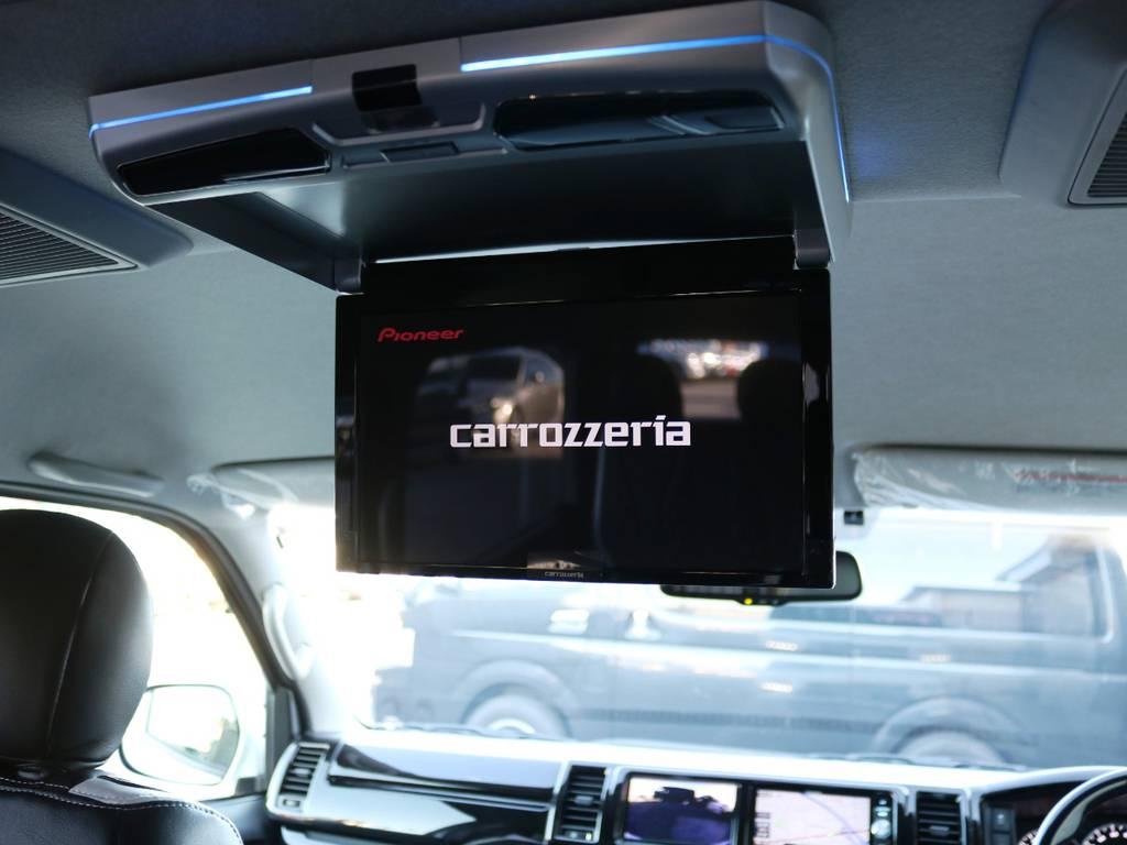 カロッツェリア 11.6型フリップダウンモニター♪ | トヨタ ハイエース 2.7 GL ロング ミドルルーフ ヴォーグW4 フルエアロ