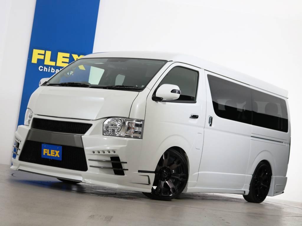 ハイエースワゴンGL セカンドハウス ヴォーグW4 フルエアロ ガソリン2WD 10人乗り! | トヨタ ハイエース 2.7 GL ロング ミドルルーフ ヴォーグW4 フルエアロ