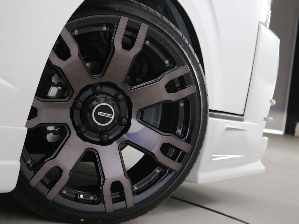 RAYS FDX F7S 20インチアルミホイール♪ | トヨタ ハイエース 2.7 GL ロング ミドルルーフ ヴォーグW4 フルエアロ