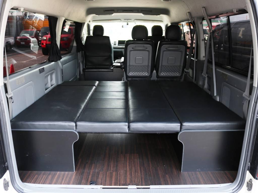 ベッドとしてもお使い頂けます! | トヨタ ハイエース 2.7 GL ロング ミドルルーフ 2型 Joker フルエアロ