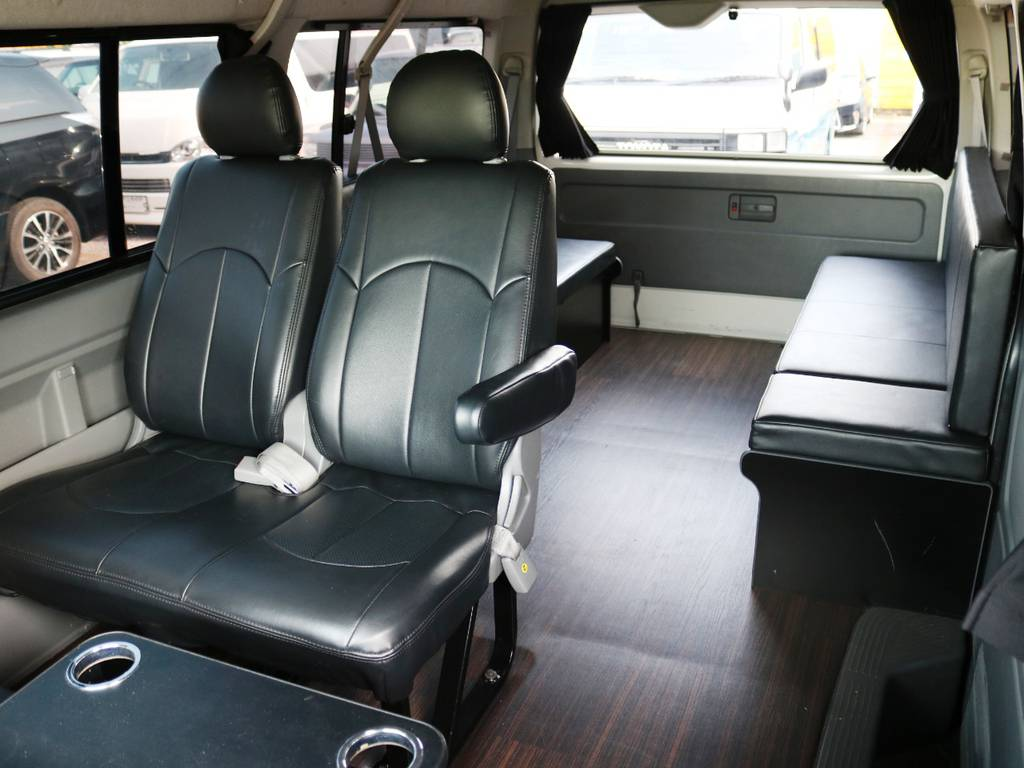 内装施工済み 10人登録のハイエースワゴンGL! | トヨタ ハイエース 2.7 GL ロング ミドルルーフ 2型 Joker フルエアロ