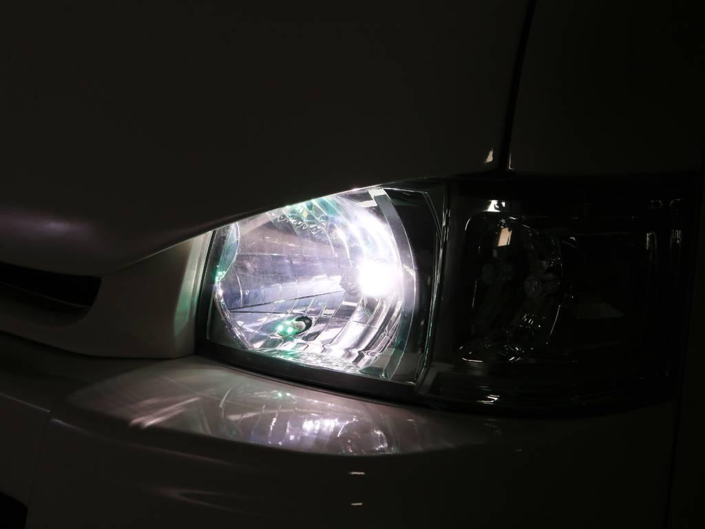 社外 エメラルドヘッドライト HIDバルブ♪ | トヨタ ハイエース 2.7 GL ロング ミドルルーフ 2型 Joker フルエアロ
