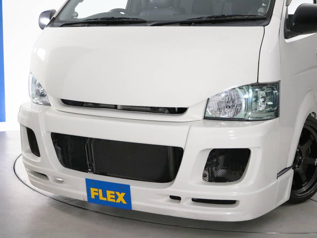 JokerDesign S-EUROバンパー&415コブラ stageⅢ ボンネット! | トヨタ ハイエース 2.7 GL ロング ミドルルーフ 2型 Joker フルエアロ