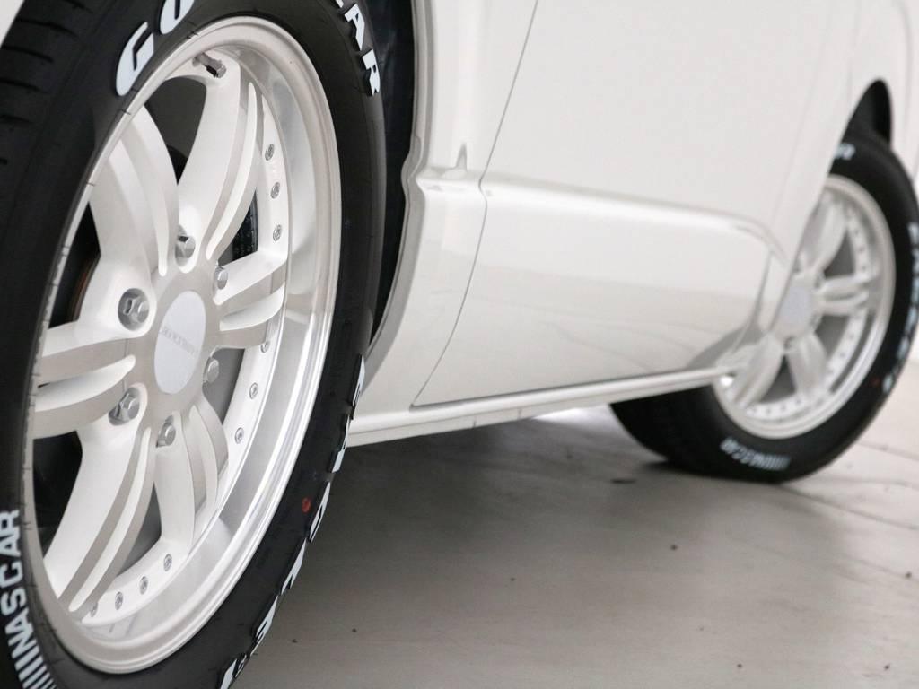 415コブラ BADRUCKER 17インチアルミホイール! | トヨタ ハイエースバン 2.8 スーパーGL 50TH アニバーサリー リミテッド ロングボディ ディーゼルターボ 415コブラ カスタム