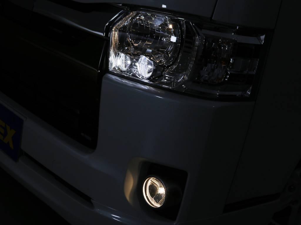 LEDヘッドランプ標準装備! | トヨタ ハイエースバン 2.8 スーパーGL 50TH アニバーサリー リミテッド ロングボディ ディーゼルターボ 415コブラ カスタム
