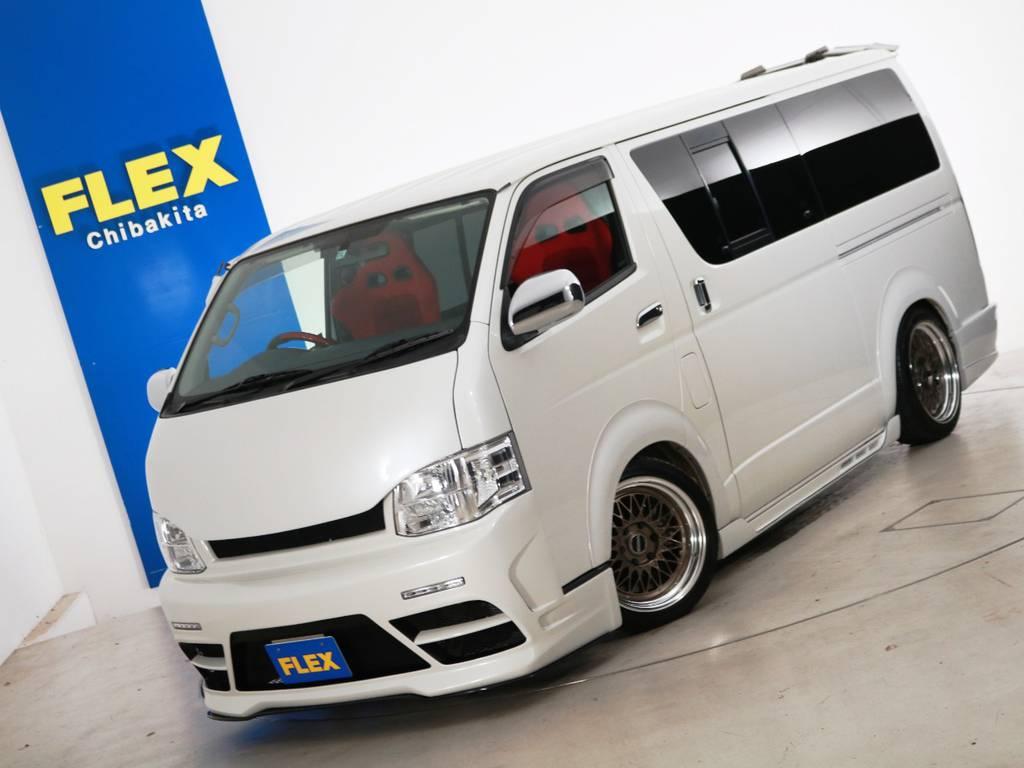 H22年 買取直販 レジアスエース S-GL 9.2万km ガソリン2WD 5人乗り 415コブラフルエアロ!