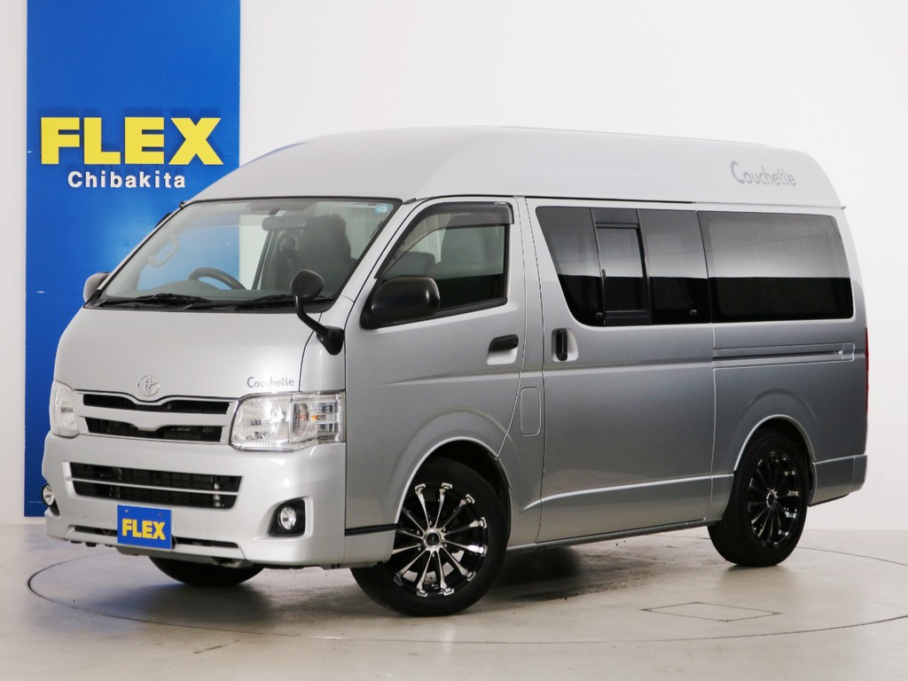 H26年 ハイエースバン DX ハイルーフ ガソリン2WD ビークル製クッチェッタ・カナート キャンピングカー!