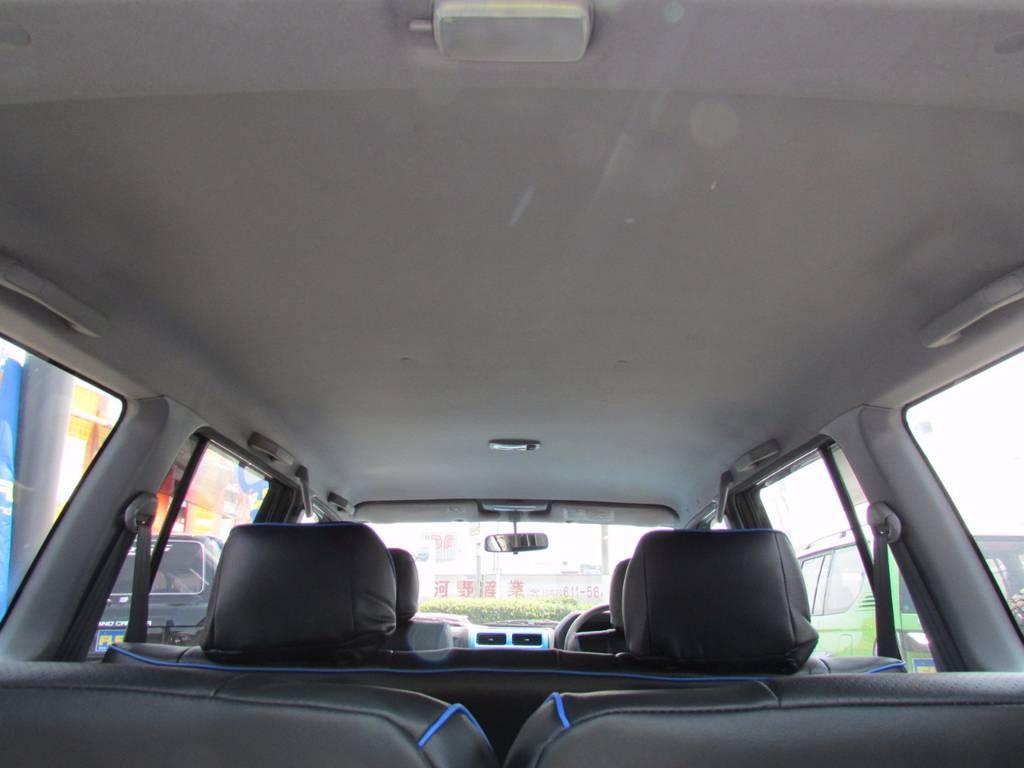 天井も切れなどもなく、GOODコンディションです! | トヨタ ランドクルーザープラド 3.0 TX ディーゼルターボ 4WD COLORBOMB