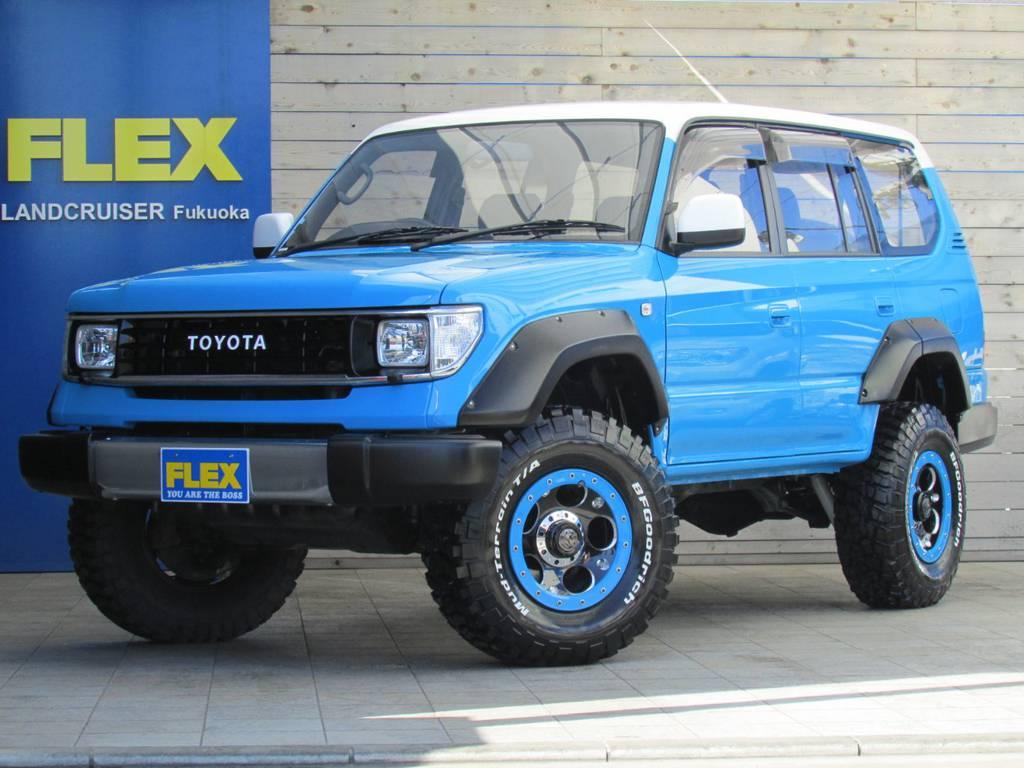FLEXオリジナルのカラーボム!全て新品パーツ&FLEXオリジナルパーツで作り上げた一台