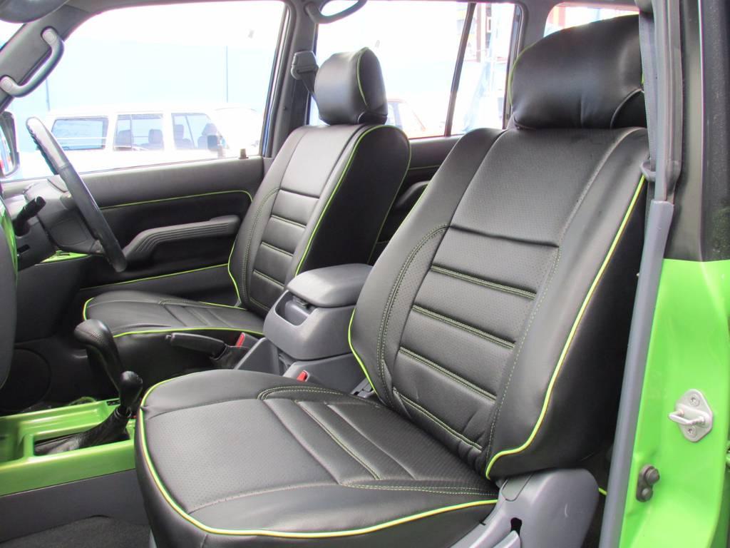 助手席も専用設計のシートカバーできれいな状態です! | トヨタ ランドクルーザープラド 3.0 TZ ディーゼルターボ 4WD COLORBOMB