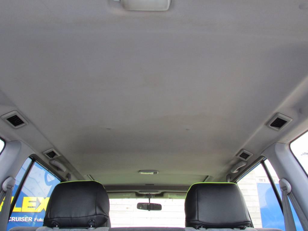 天井も大きなシミなどもなくGOODコンディションです! | トヨタ ランドクルーザープラド 3.0 TZ ディーゼルターボ 4WD COLORBOMB