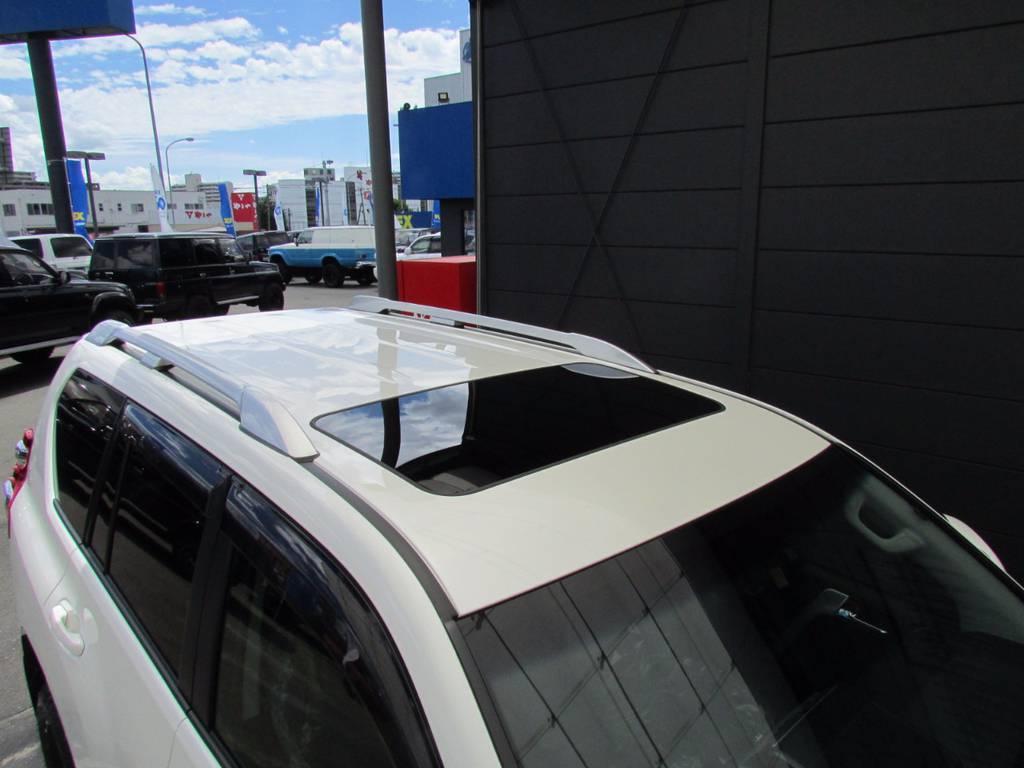 サンルーフ、ルーフレールも装備! | トヨタ ランドクルーザープラド 2.8 TX Lパッケージ ディーゼルターボ 4WD 新車未登録 モデリスタエアロキット