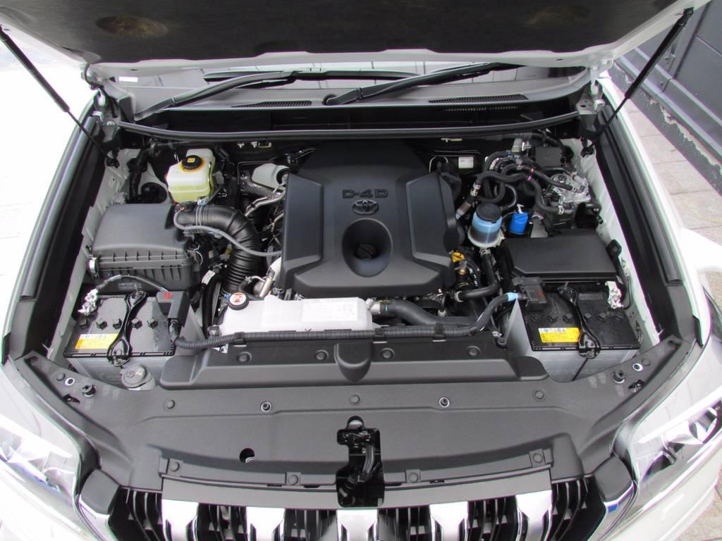 人気が集中しているクリーンディーゼル車です! | トヨタ ランドクルーザープラド 2.8 TX Lパッケージ ディーゼルターボ 4WD 新車未登録 モデリスタエアロキット