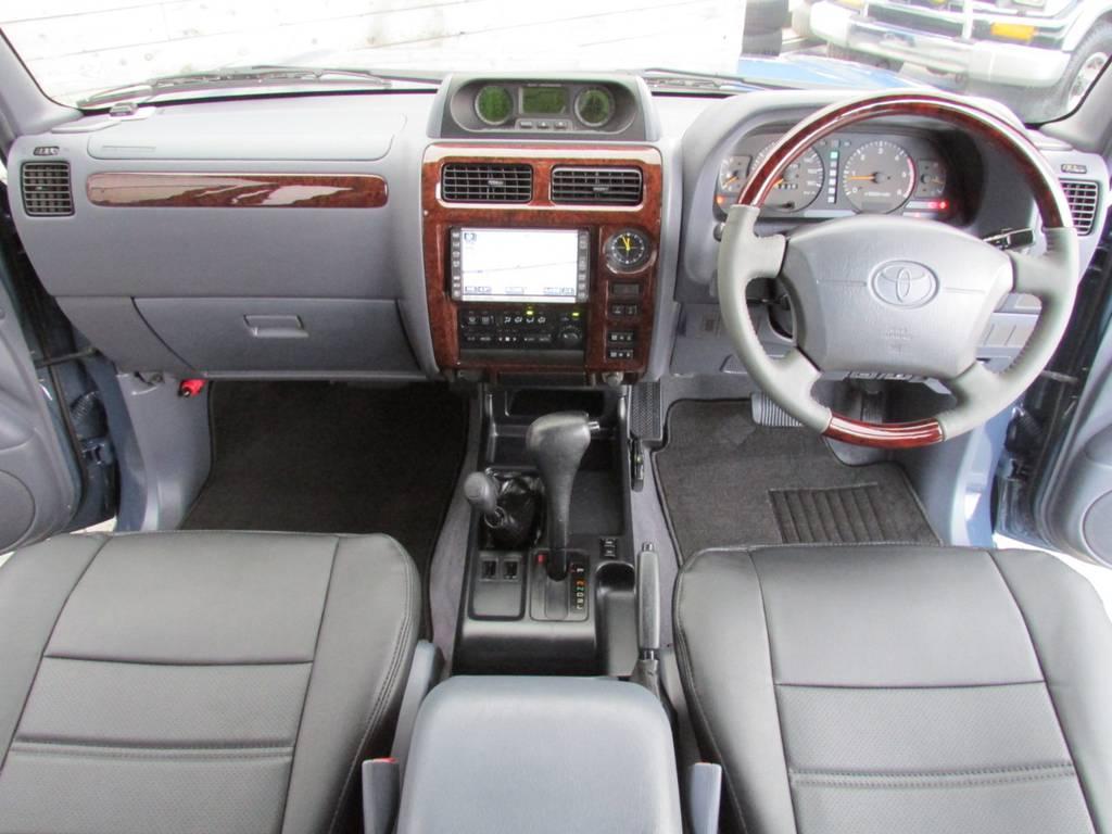 内装もしっかりカスタマイズ! | トヨタ ランドクルーザープラド 3.0 TZ ディーゼルターボ 4WD カスタム