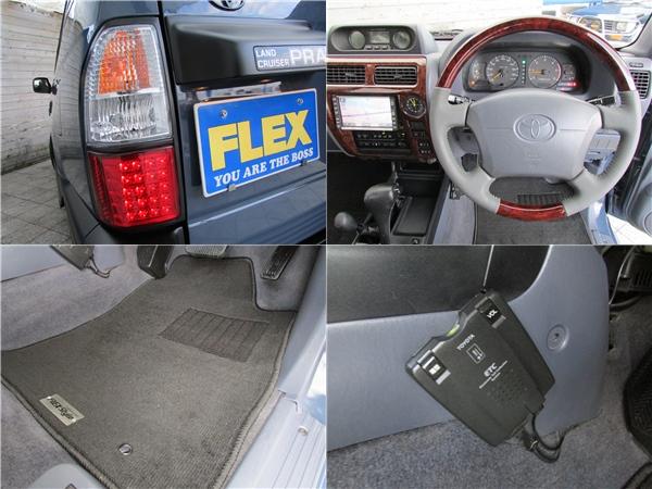 新品ウッドコンビハンドルや新品FLEXオリジナルフロアマットもインストール済み! | トヨタ ランドクルーザープラド 3.0 TZ ディーゼルターボ 4WD カスタム