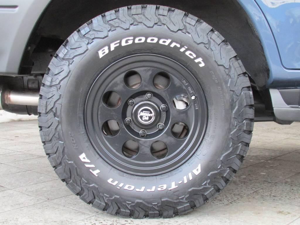 ジムライン16インチAWにBFグッドリッチATタイヤをそれぞれ新品インストール! | トヨタ ランドクルーザープラド 3.0 TZ ディーゼルターボ 4WD カスタム
