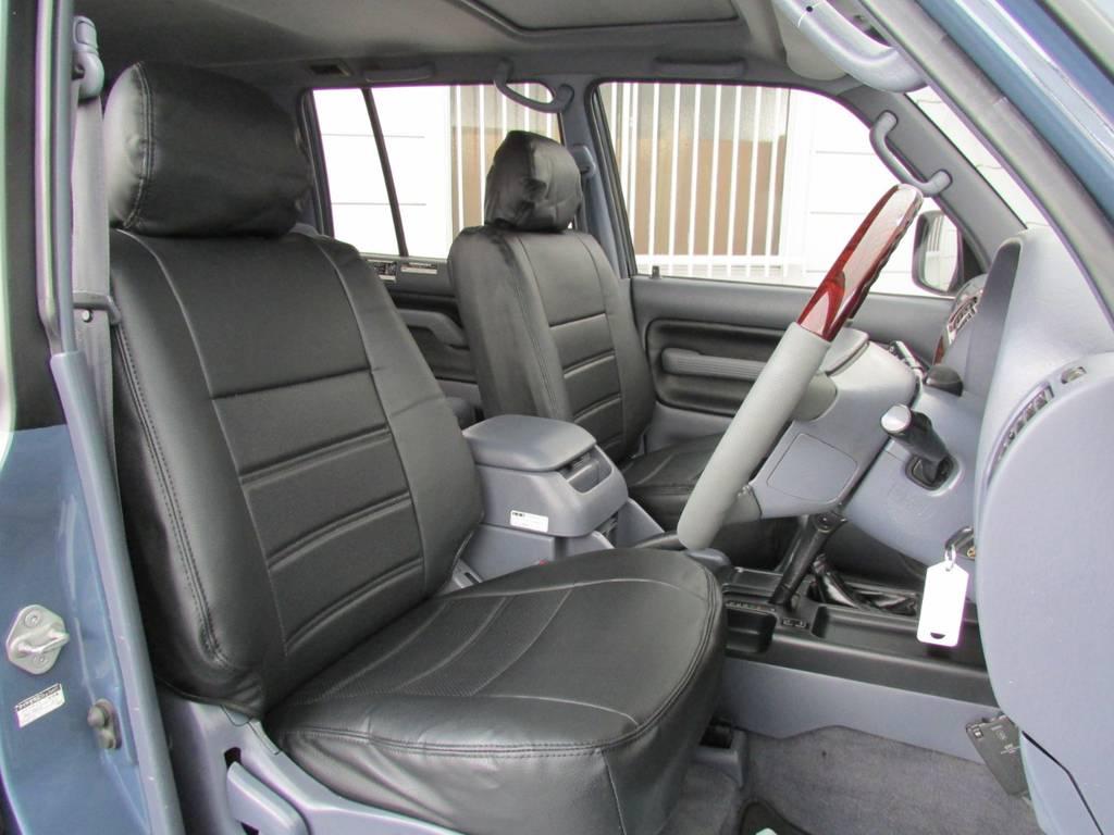 シートカバーも新品インストール! | トヨタ ランドクルーザープラド 3.0 TZ ディーゼルターボ 4WD カスタム