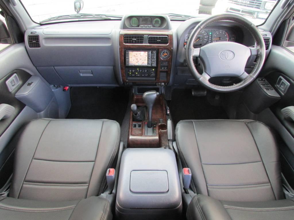 グレー基調の内装です♪ | トヨタ ランドクルーザープラド 2.7 TX 4WD カスタム車