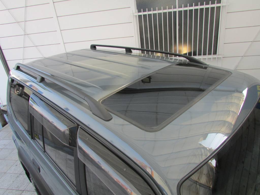 サンルーフ、ルーフレールも装備! | トヨタ ランドクルーザープラド 2.7 TX 4WD カスタム車