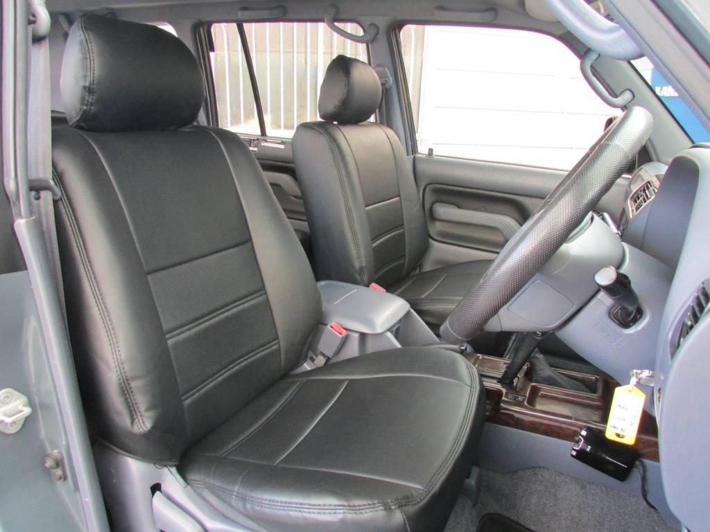 新品シートカバーも装着済み! | トヨタ ランドクルーザープラド 2.7 TX 4WD カスタム車