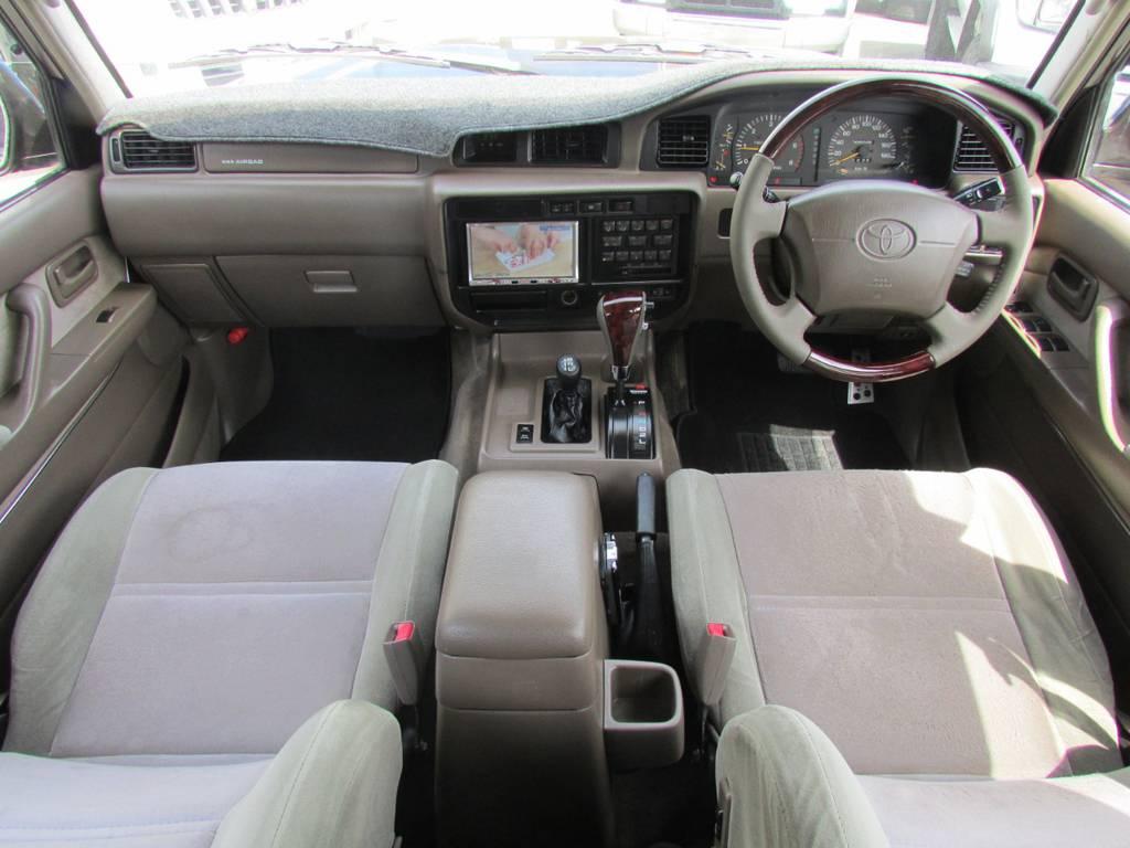 内装は希少茶内装!!最終型ですのでWエアバッグも標準装備です! | トヨタ ランドクルーザー80 4.2 VXリミテッド ディーゼルターボ 4WD 最終モデル
