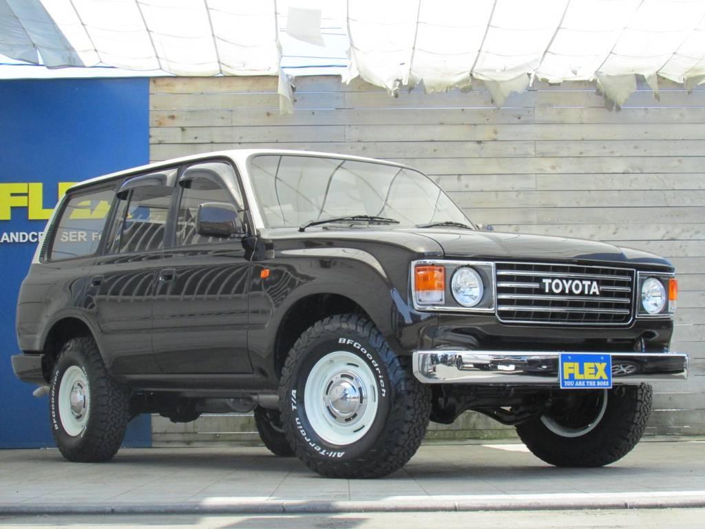 クラシックスタイルでとてもカッコイイですね! | トヨタ ランドクルーザー80 4.2 VXリミテッド ディーゼルターボ 4WD 最終モデル