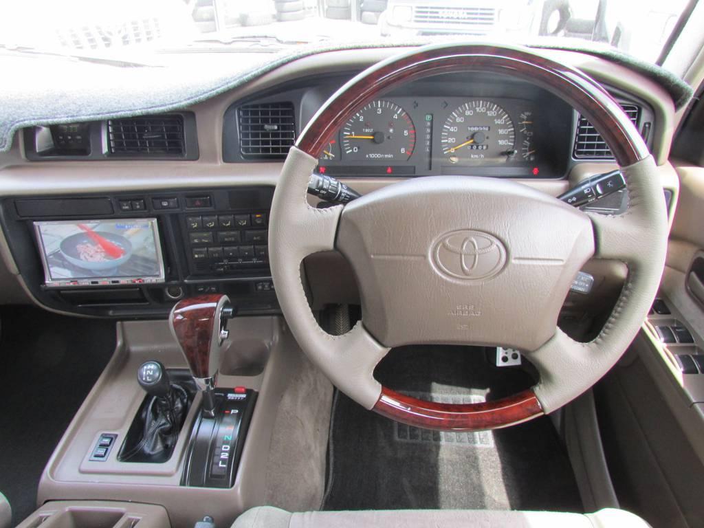 ウッドコンビハンドル、ウッドシフトノブをそれぞれ新品インストール! | トヨタ ランドクルーザー80 4.2 VXリミテッド ディーゼルターボ 4WD 最終モデル