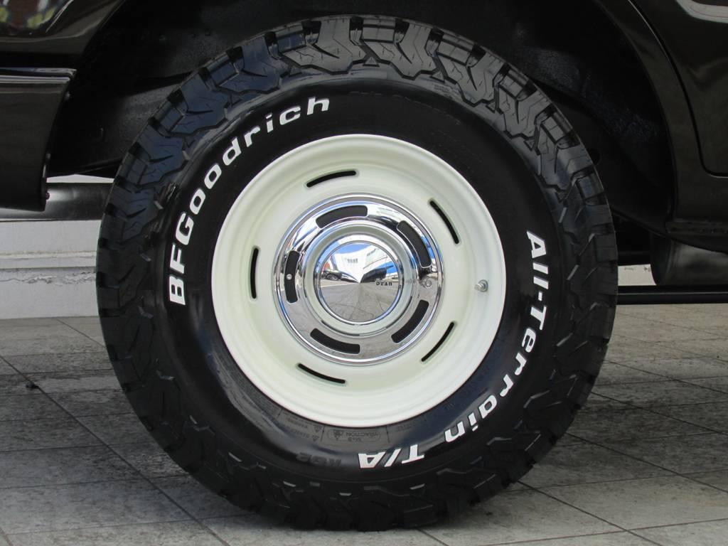 DEANクロスカントリー16インチAWにBFグッドリッチATタイヤをそれぞれ新品インストール! | トヨタ ランドクルーザー80 4.2 VXリミテッド ディーゼルターボ 4WD 最終モデル