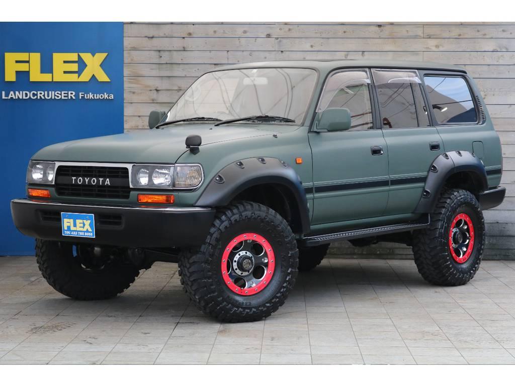 ランクル80 VX ディーゼルターボ!渋めのマッドグリーン! | トヨタ ランドクルーザー80 4.2 VX ディーゼルターボ 4WD