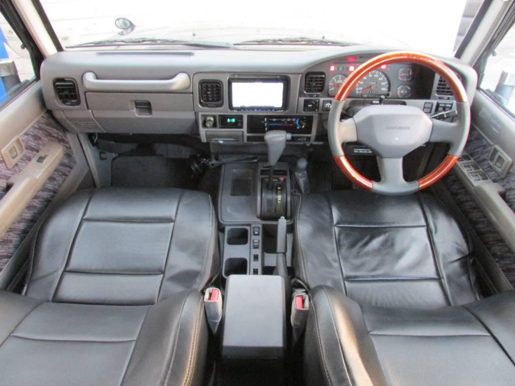 ウッドコンビハンドルに交換済み♪   トヨタ ランドクルーザープラド 3.0 SXワイド ディーゼルターボ 4WD カスタム