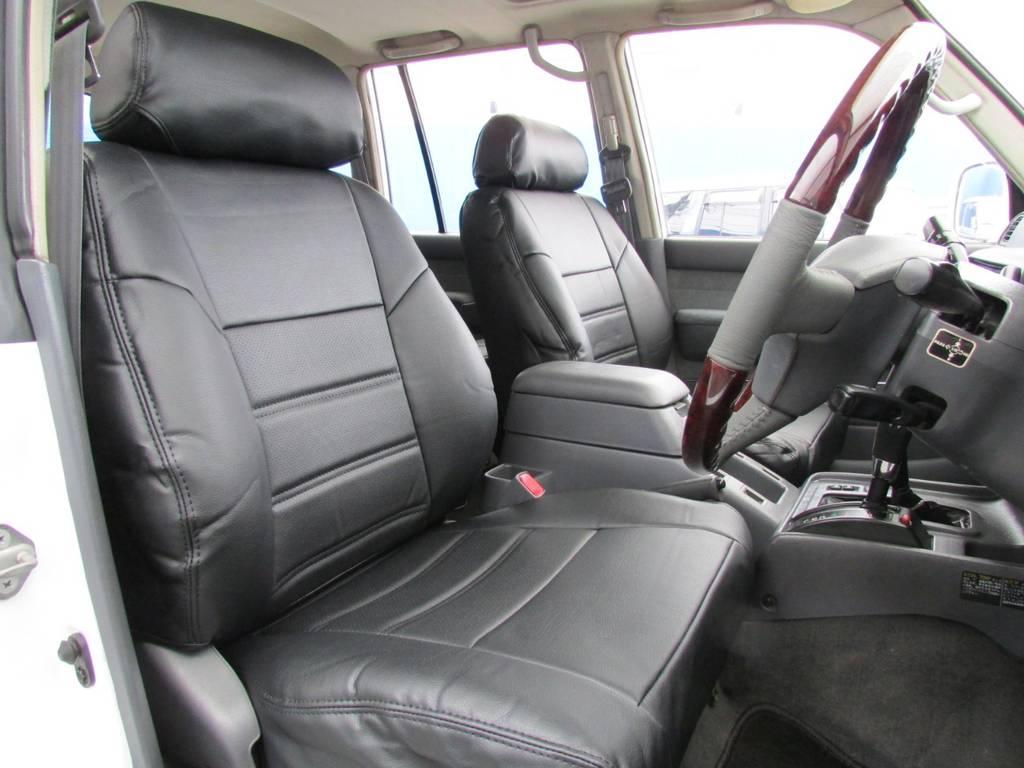 新品シートカバー装着してます! | トヨタ ランドクルーザー80 4.2 VXリミテッド ディーゼルターボ 4WD コンプリートカー
