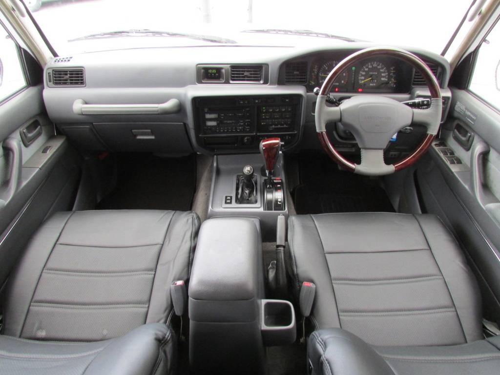 新品ウッドコンビハンドル、新品ウッドシフトノブ装着済み♪ | トヨタ ランドクルーザー80 4.2 VXリミテッド ディーゼルターボ 4WD コンプリートカー