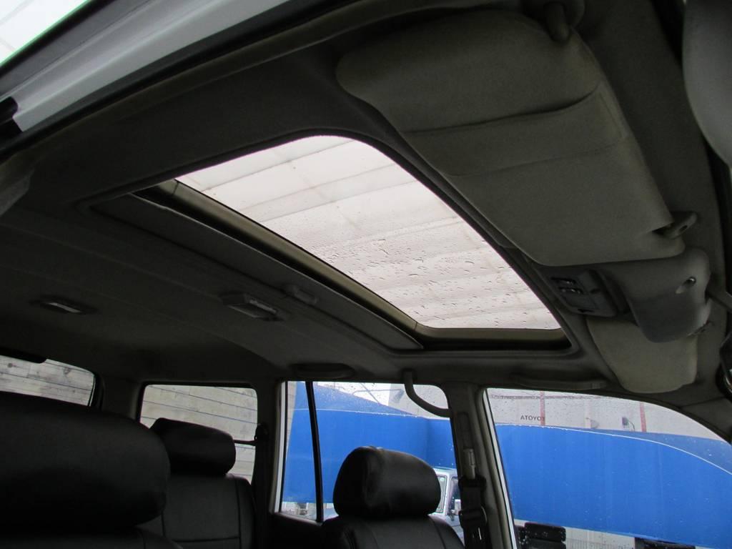 サンルーフは開放感がありますね♪ | トヨタ ランドクルーザー80 4.2 VXリミテッド ディーゼルターボ 4WD コンプリートカー
