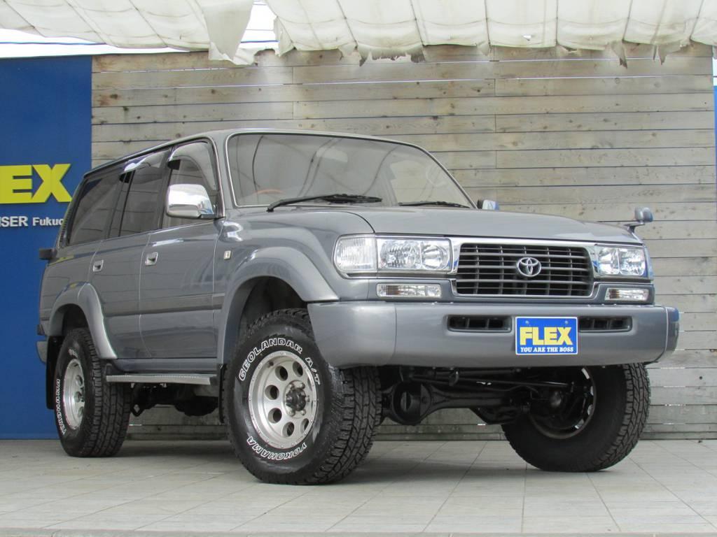 タイヤホイールとボディのバランスも良いです♪   トヨタ ランドクルーザー80 4.2 VX ディーゼル 4WD カスタム