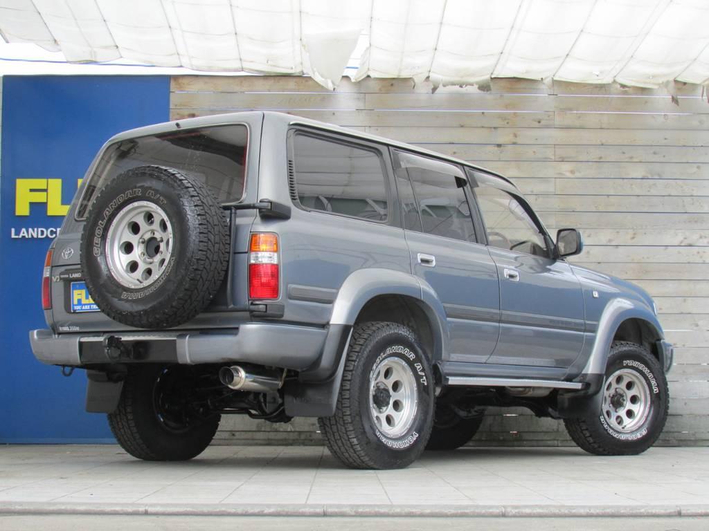 リアビューも迫力ありますね!   トヨタ ランドクルーザー80 4.2 VX ディーゼル 4WD カスタム
