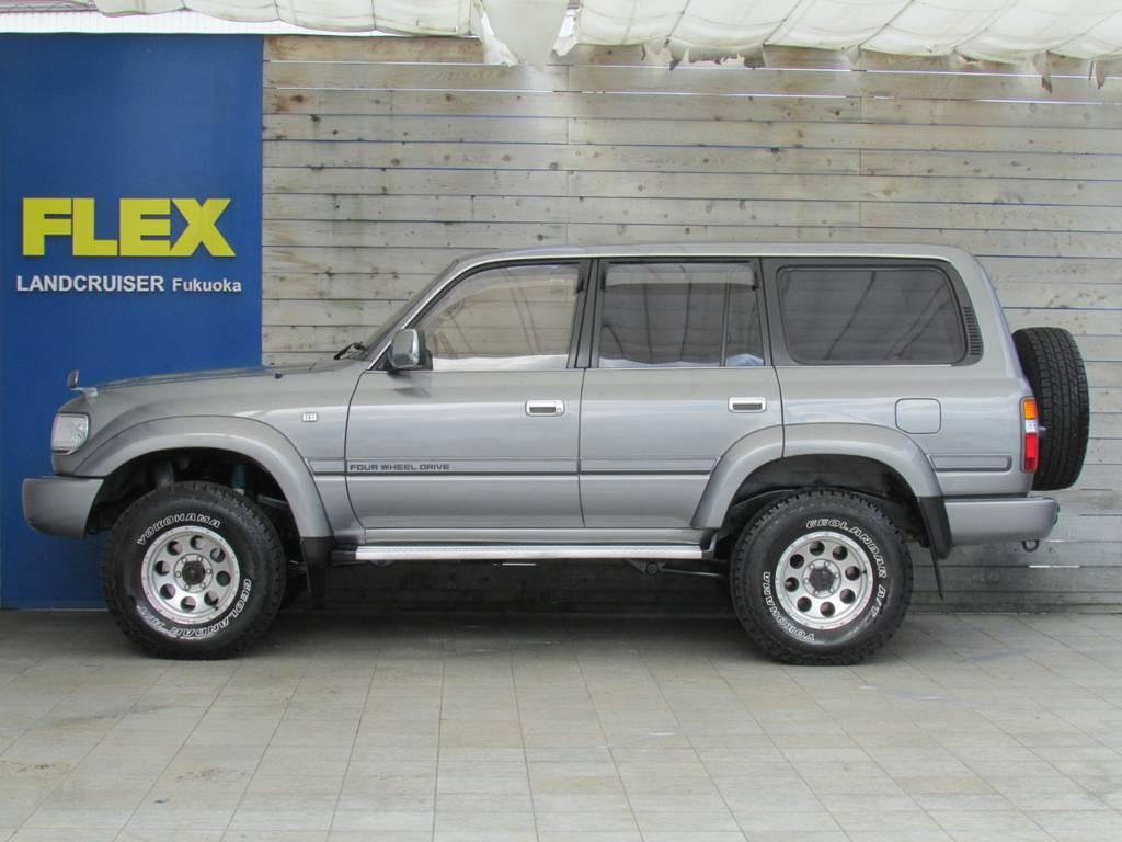 新品ナビ、セキュリティー、タイヤホイール等の追加カスタムもお任せください!   トヨタ ランドクルーザー80 4.2 VX ディーゼル 4WD カスタム